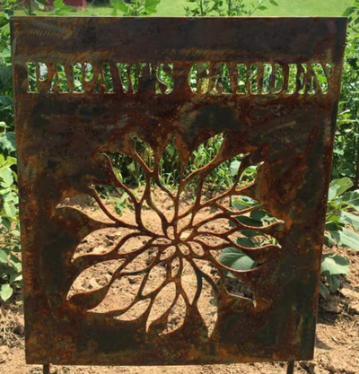 Garden Metal Art Sign