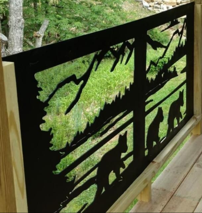 Metal Art Designed Rails