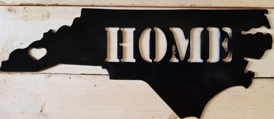 NC Home Metal Art Sign
